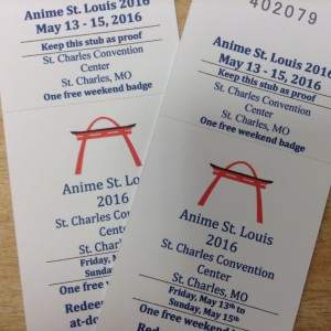 2 tickets to Anime St Louis